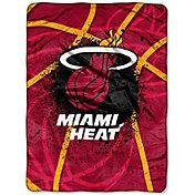 Northwest Miami Heat Shadow Play Raschel Throw Blanket