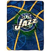 Northwest Utah Jazz Shadow Play Raschel Throw Blanket