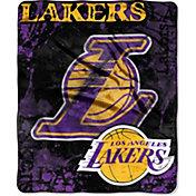 Northwest Los Angeles Lakers Dropdown Raschel Throw Blanket