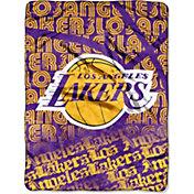 Northwest Los Angeles Lakers Redux Micro Raschel Throw Blanket