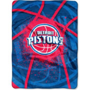 Northwest Detroit Pistons Shadow Play Raschel Throw Blanket