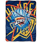 Northwest Oklahoma City Thunder Shadow Play Raschel Throw Blanket