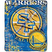 Northwest Golden State Warriors Dropdown Raschel Throw Blanket
