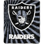Northwest Oakland Raiders Team-Colored Strobe Sherpa Throw