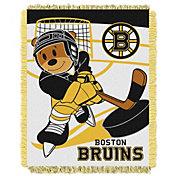 Northwest Boston Bruins Score Baby 36 in x 46 in Jacquard Woven Throw Blanket