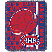 Northwest Montreal Canadiens Double Play 48 in x 60 in Jacquard Woven Throw Blanket
