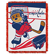 Northwest Washington Capitals Score Baby 36 in x 46 in Jacquard Woven Throw Blanket