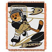 Northwest Anaheim Ducks Score Baby 36 in x 46 in Jacquard Woven Throw Blanket