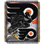 Northwest Philadelphia Flyers 48 in x 60 in Home Ice Advantage Tapestry Throw Blanket