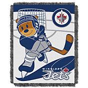 Northwest Winnipeg Jets Score Baby 36 in x 46 in Jacquard Woven Throw Blanket