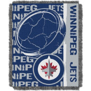 Northwest Winnipeg Jets Double Play 48 in x 60 in Jacquard Woven Throw Blanket