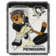 Northwest Pittsburgh Penguins Score Baby 36 in x 46 in Jacquard Woven Throw Blanket
