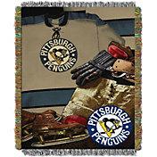 Northwest Pittsburgh Penguins Vintage 48 in x 60 in Tapestry Throw Blanket