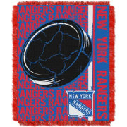 Northwest New York Rangers Double Play 48 in x 60 in Jacquard Woven Throw Blanket