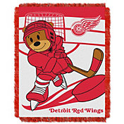 Northwest Detroit Red Wings Score Baby 36 in x 46 in Jacquard Woven Throw Blanket