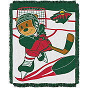 Northwest Minnesota Wild Score Baby 36 in x 46 in Jacquard Woven Throw Blanket