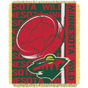 Northwest Minneosta Wild Double Play 48 in x 60 in Jacquard Woven Throw Blanket