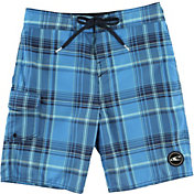 O'Neill Boys' Santa Cruz Plaid Board Shorts