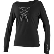 O'Neill Women's Lace Up V-Neck Long Sleeve Rash Guard