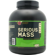 Optimum Nutrition Serious Mass Protein Powder Strawberry 6 lbs