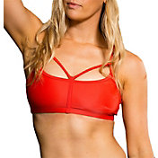 Onzie Women's Hot Coral Bound Sports Bra
