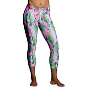 Onzie Women's Diamond Palm Print Capris