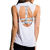 Onzie Women's White Twist Back Tank Top