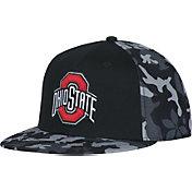 OSU Men's Ohio State Buckeyes Black Camo Flat Brim Snapback Hat