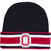 OSU Men's Ohio State Buckeyes Black Flipper Cuffed Knit Beanie