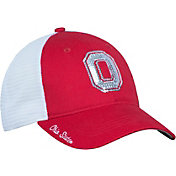 OSU Women's Ohio State Buckeyes Scarlet/White Logo Bling Adjustable Hat
