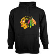 Old Time Hockey Men's Chicago Blackhawks Big Logo Black Hoodie