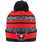 Old Time Hockey Men's Washington Capitals Clay Navy Cuffed Knit Hat