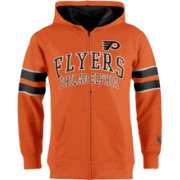 Old Time Hockey Youth Philadelphia Flyers Felix Orange Full-Zip Hoodie