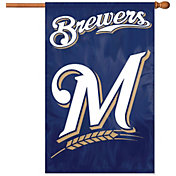 Party Animal Milwaukee Brewers Applique Banner Flag