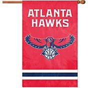 Party Animal Atlanta Hawks Applique Banner Flag