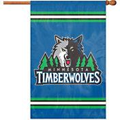 Party Animal Minnesota Timberwolves Applique Banner Flag