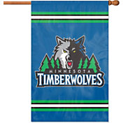 Party Animal Minnesota Timberwolves Applique Banner Flag