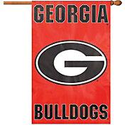 Party Animal Georgia Bulldogs Applique Banner Flag