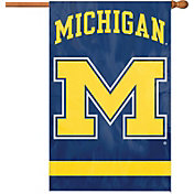 Party Animal Michigan Wolverines Applique Banner Flag