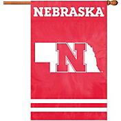 Party Animal Nebraska Cornhuskers Applique Banner Flag