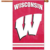 Party Animal Wisconsin Badgers Applique Banner Flag