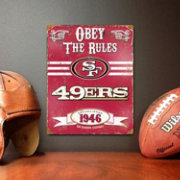Party Animal San Francisco 49ers Embossed Metal Sign