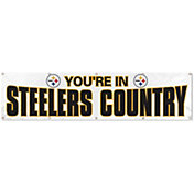 """Party Animal Pittsburgh Steelers White """"Steelers Country"""" Giant 8' x 2' Banner"""