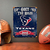 Party Animal Houston Texans Embossed Metal Sign