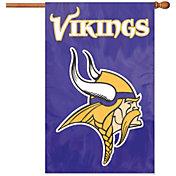 Party Animal Minnesota Vikings Applique Banner Flag