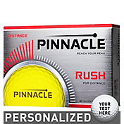 Pinnacle Rush Yellow Personalized Golf Balls