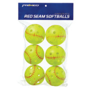 "PRIMED 12"" Red Seam Fastpitch Softballs - 6 Pack"