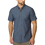prAna Men's Broderick Button Up Short Sleeve Shirt