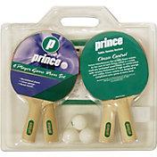Prince 4-Player Game Room Table Tennis Racket Set