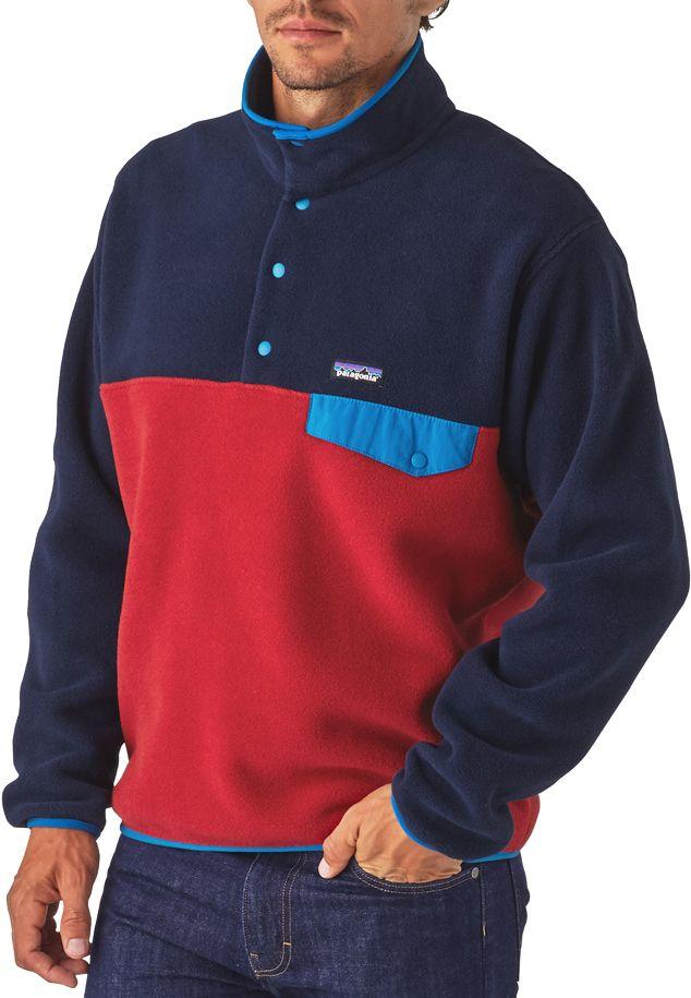 Patagonia synchilla snap t fleece pullover jacket men's